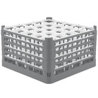 Vollrath 52733 Signature Full-Size Gray 25-Compartment 9 15/16 inch XXX-Tall Glass Rack