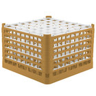 Vollrath 52740 Signature Full-Size Gold 49-Compartment 11 3/8 inch XXXX-Tall Glass Rack