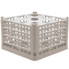 Vollrath 52736 Signature Full-Size Beige 9-Compartment 11 3/8 inch XXXX-Tall Glass Rack