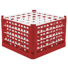Vollrath 52739 Signature Full-Size Red 36-Compartment 11 3/8 inch XXXX-Tall Glass Rack