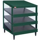 Hatco GRPWS-2424T Hunter Green Glo-Ray 24 inch Triple Shelf Pizza Warmer - 1800W