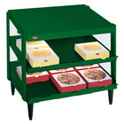 Hatco GRPWS-2424D Hunter Green Glo-Ray 24 inch Double Shelf Pizza Warmer - 1200W