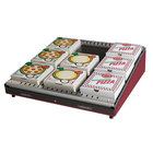 Hatco GRPWS-3624 Wine Red Glo-Ray 36 inch Single Shelf Pizza Warmer - 720W