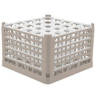 Vollrath 52738 Signature Full-Size Beige 25-Compartment 11 3/8 inch XXXX-Tall Glass Rack