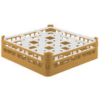 Vollrath 52761 Signature Full-Size Gold 9-Compartment 4 13/16 inch Medium Plus Glass Rack
