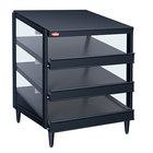 Hatco GRPWS-3624T Black Glo-Ray 36 inch Triple Shelf Pizza Warmer - 120/208V, 2700W