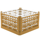 Vollrath 52732 Signature Full-Size Gold 16-Compartment 9 15/16 inch XXX-Tall Glass Rack