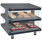 Hatco GR2SDS-42D Gray Granite Glo-Ray Designer 42 inch Slanted Double Shelf Merchandiser - 120/208V