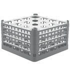 Vollrath 52732 Signature Full-Size Gray 16-Compartment 9 15/16 inch XXX-Tall Glass Rack