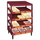 Hatco GRPWS-3618Q Wine Red Glo-Ray 36 inch Quadruple Shelf Pizza Warmer - 2880W