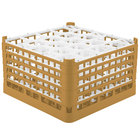 Vollrath 52755 Signature Lemon Drop Full-Size Gold 20-Compartment 10 9/16 inch XXX-Tall Plus Glass Rack