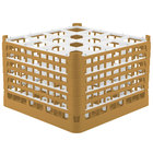 Vollrath 52737 Signature Full-Size Gold 16-Compartment 11 3/8 inch XXXX-Tall Glass Rack