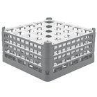 Vollrath 52776 Signature Full-Size Gray 25-Compartment 9 1/16 inch XX-Tall Plus Glass Rack