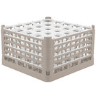 Vollrath 52777 Signature Full-Size Beige 25-Compartment 10 9/16 inch XXX-Tall Plus Glass Rack