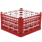 Vollrath 52771 Signature Full-Size Red 16-Compartment 10 9/16 inch XXX-Tall Plus Glass Rack