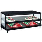 Hatco GRPWS-4824D Black Glo-Ray 48 inch Double Shelf Pizza Warmer - 120/208V, 2390W