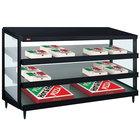 Hatco GRPWS-4824T Black Glo-Ray 48 inch Triple Shelf Pizza Warmer - 120/240V, 3585W