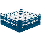 Vollrath 52768 Signature Full-Size Royal Blue 16-Compartment 6 1/4 inch Tall Plus Glass Rack