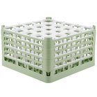 Vollrath 52777 Signature Full-Size Light Green 25-Compartment 10 9/16 inch XXX-Tall Plus Glass Rack