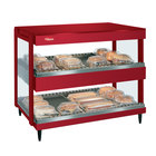 Hatco GRSDH-60D Warm Red Glo-Ray 60 inch Horizontal Double Shelf Merchandiser - 120/208V