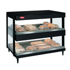 Hatco GRSDH-41D Black Glo-Ray 41 inch Horizontal Double Shelf Merchandiser - 120/240V