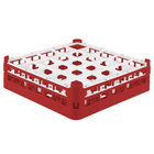 Vollrath 52773 Signature Full-Size Red 25-Compartment 4 13/16 inch Medium Plus Glass Rack