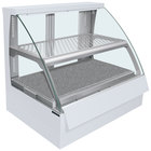 Hatco FSCDH-2PD White Flav-R-Savor Convected Air Curved Front Display Case with Humidity Control - 120/208V
