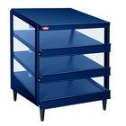 Hatco GRPWS-4824T Navy Blue Glo-Ray 48 inch Triple Shelf Pizza Warmer - 120/208V, 3585W
