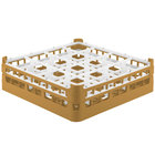 Vollrath 52767 Signature Full-Size Gold 16-Compartment 4 13/16 inch Medium Plus Glass Rack