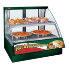 Hatco FSCD-2PD Green Flav-R-Savor Convected Air Curved Front Display Case