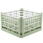 Vollrath 52771 Signature Full-Size Light Green 16-Compartment 10 9/16 inch XXX-Tall Plus Glass Rack