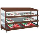 Hatco GRPWS-4824T Antique Copper Glo-Ray 48 inch Triple Shelf Pizza Warmer - 120/240V, 3585W