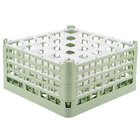 Vollrath 52776 Signature Full-Size Light Green 25-Compartment 9 1/16 inch XX-Tall Plus Glass Rack