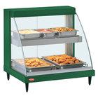Hatco GRCD-1PD Green 20 inch Glo-Ray Full Service Double Shelf Merchandiser - 120V, 860V