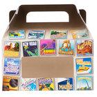 1-Piece 1 lb. State Window Candy Box 6 3/8 inch x 3 inch x 3 1/2 inch - 250/Case
