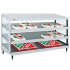 Hatco GRPWS-4818T Granite White Glo-Ray 48 inch Triple Shelf Pizza Warmer - 120/240V, 2880W