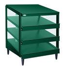 Hatco GRPWS-4818T Hunter Green Glo-Ray 48 inch Triple Shelf Pizza Warmer - 2880W