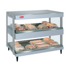 Hatco GRSDH-52D White Granite Glo-Ray 52 inch Horizontal Double Shelf Merchandiser