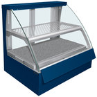 Hatco FSCDH-2PD Navy Flav-R-Savor Convected Air Curved Front Display Case with Humidity Control - 120/240V