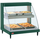 Hatco GRCD-2PD Green 32 inch Glo-Ray Full Service Double Shelf Merchandiser - 120V, 1210W