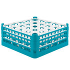 Vollrath 52775 Signature Full-Size Light Blue 25-Compartment 7 11/16 inch X-Tall Plus Glass Rack