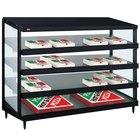 Hatco GRPWS-4824Q Black Glo-Ray 48 inch Quadruple Shelf Pizza Warmer - 120/208V, 4780W