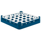 Vollrath 52772 Signature Full-Size Royal Blue 25-Compartment 3 1/4 inch Short Plus Glass Rack
