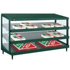 Hatco GRPWS-4818T Hunter Green Glo-Ray 48 inch Triple Shelf Pizza Warmer - 120/240V, 2880W
