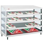 Hatco GRPWS-4818Q Granite White Glo-Ray 48 inch Quadruple Shelf Pizza Warmer - 120/240V, 3840W