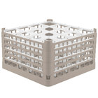 Vollrath 52771 Signature Full-Size Beige 16-Compartment 10 9/16 inch XXX-Tall Plus Glass Rack