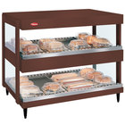 Hatco GRSDH-24D Antique Copper Glo-Ray 24 inch Horizontal Double Shelf Merchandiser - 120V