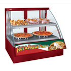 Hatco FSCDH-2PD Red Flav-R-Savor Convected Air Curved Front Display Case with Humidity Control