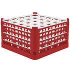 Vollrath 52777 Signature Full-Size Red 25-Compartment 10 9/16 inch XXX-Tall Plus Glass Rack