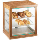 Cal-Mil 284-60 Three Tier Bamboo Display Case with Rear Doors - 21 inch x 16 1/4 inch x 22 1/2 inch